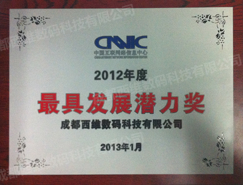2012年度最具发展潜力奖